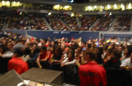 This is a pic of the actual crowd on the day I opened up for Carlos Vives in Toronto.